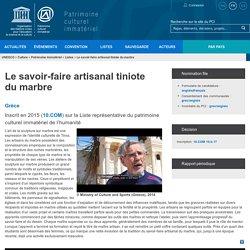 Le savoir-faire artisanal tiniote du marbre - patrimoine immatériel - Secteur de la culture - UNESCO