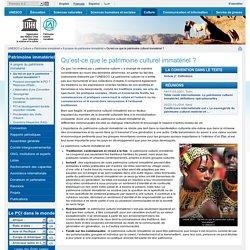 UNESCO : Patrimoine immatériel