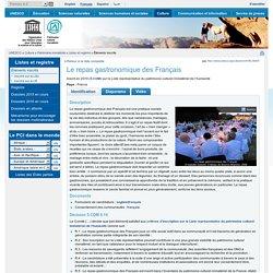UNESCO - NOV 2010 - Le repas gastronomique des FrançaisInscrit en 2010 sur la Liste représentative du patrimoine culturel immaté