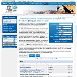 Unesco - immatériel