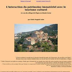 Patrimoine immatériel et tourisme culturel à Pigna, Corse
