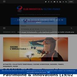 DOSSIER / Offres d'emplois Patrimoine & Innovations (19/02/2019) – Club Innovation
