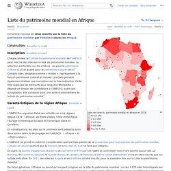 Liste du patrimoine mondial en Afrique