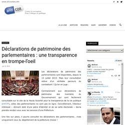 Patrimoine des parlementaires
