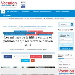 Les métiers de la filière culture et patrimoine qui recrutent (…) - Vocation Service Public