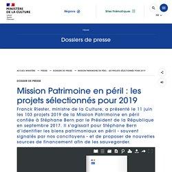 Mission Patrimoine en péril : les projets sélectionnés pour 2019