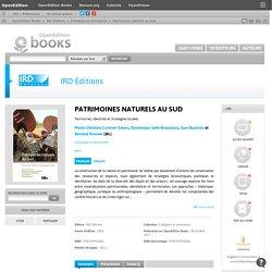Patrimoines naturels au Sud - IRD Éditions