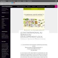 Le fait patrimonial au service du développement local