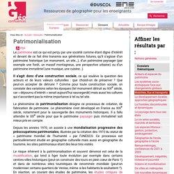 Patrimonialisation