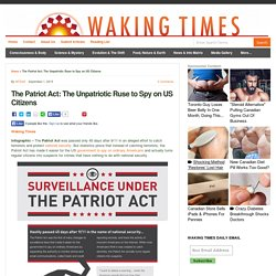 The Patriot Act: The Unpatriotic Ruse to Spy on US Citizens : Waking Times