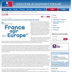 Eric Woerth : « Mon devoir c'est de tenir » - Actualités - S'informer - Le Mouvement Populaire – UMP