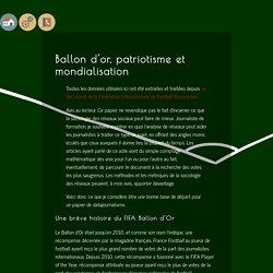 [Data]: Ballon d'or, patriotisme et mondialisation