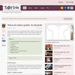 Patron de couture gratuit : la robe facile