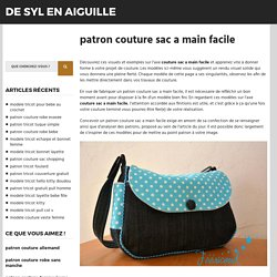 patron couture sac a main facile