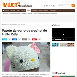 Patrón de gorro de crochet de Hello Kitty