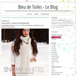 Patron Gratuit - Cabled Scarf de Debbie Bliss - Bleu de Toiles - Le Blog