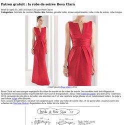 la robe de soirée Rosa Clará