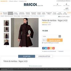 Patron de manteau - Vogue 1419 - Rascol