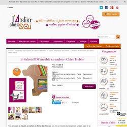 E-Patron PDF meuble en carton - Chien Helvis