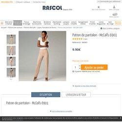 Patron de pantalon - McCall's 6901 - Rascol