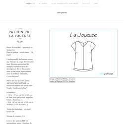 Patron PDF La Joueuse / mlm patrons