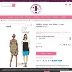 Patron Vogue 8805 Robes femme ColorBlock