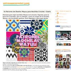 16 Patrones de Diseños Wayuu para Mochilas Crochet / Gratis