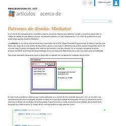 Patrones de diseño: Mediator
