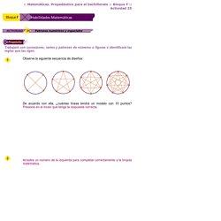 Patrones numéricos y espaciales
