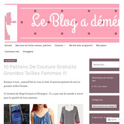 10 Patrons De Couture Gratuits Grandes Tailles Femmes !!! – Béné's Addict