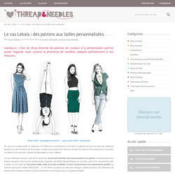 Le cas Lekala : des patrons aux tailles personnalisées