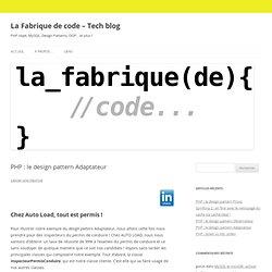 PHP : le design pattern Adaptateur