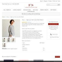 Pattern Anca — High Low Hem Linen Shirt Pattern