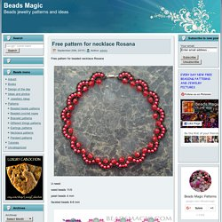 Free pattern for beaded necklace Rosana