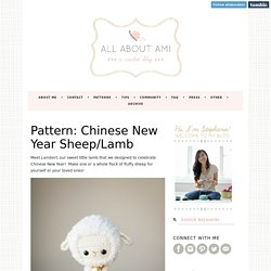 Pattern: Chinese New Year Sheep/Lamb
