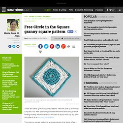 Free Circle in the Square granny square pattern - Columbus crafts