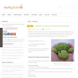 Pattern: Crochet turtle pin cushion - Good Day CrochetGood Day Crochet