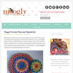 Wiggle It Crochet Trivet and Dishcloth Set