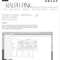 PATTERN CUTTING - Printing your pattern