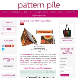 iPad Stand - Free PDF Sewing Pattern from Gaila Designs