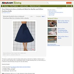 Free Pattern and Directions to Sew a Gathered Skirt for Barbie and Other Fashion Dolls - Step 1