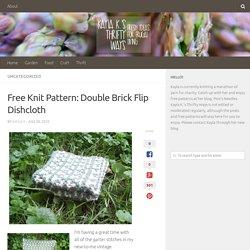 Free Knit Pattern: Double Brick Flip Dishcloth