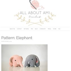 Pattern: Elephant - All About Ami