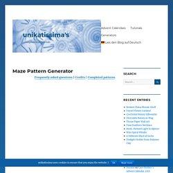 Maze Pattern Generator – unikatissima's