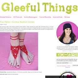 Free Pattern: Goddess Barefoot Sandals
