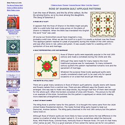 Rose of Sharon Quilt Pattern History With Two Free Patterns