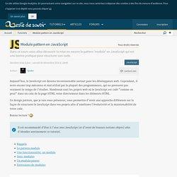 Module pattern en JavaScript