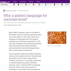 Why a pattern language for microservices?