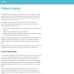 Pattern Library | MailChimp