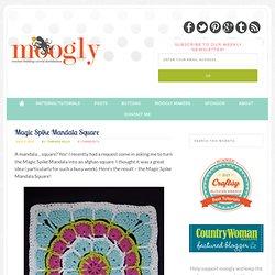 "Magic Spike Mandala Square - 12"" Afghan Block"